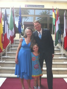 Jennifer Steil with her husband, Tim Torlot, and their daughter, Theodora.